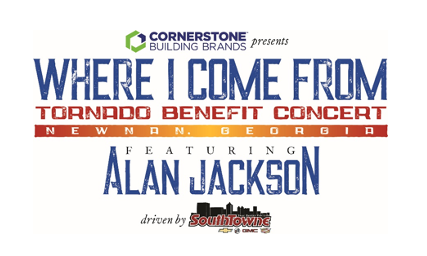 SOLD OUT TORNADO BENEFIT CONCERT HEADLINED BY ALAN JACKSON TO BE LIVESTREAMED EXCLUSIVELY ON FACEBOOK