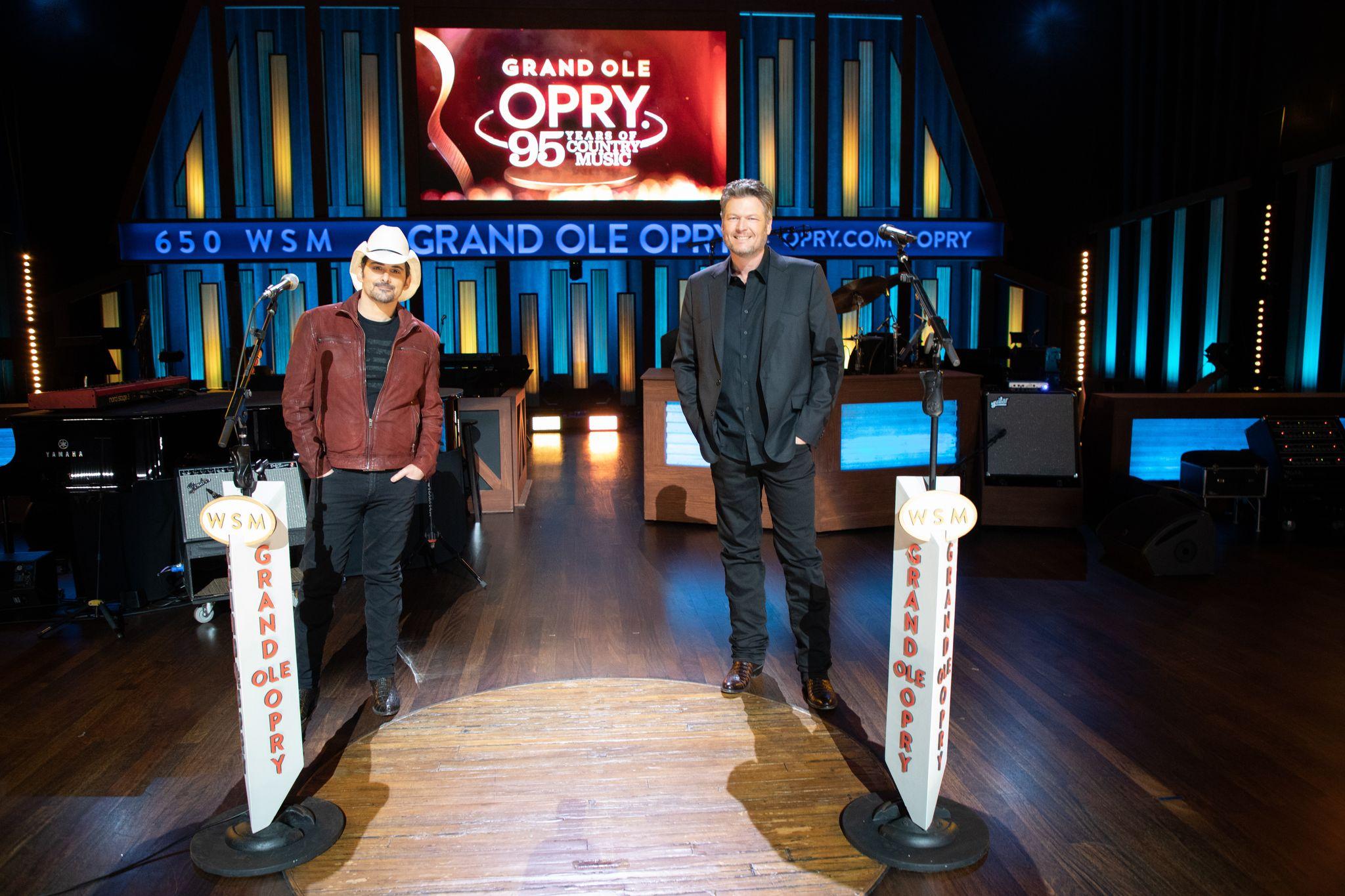 BRAD PAISLEY & BLAKE SHELTON TO HOST  'GRAND OLE OPRY: 95 YEARS OF COUNTRY MUSIC'  ON SUNDAY, FEB. 14 ON NBC