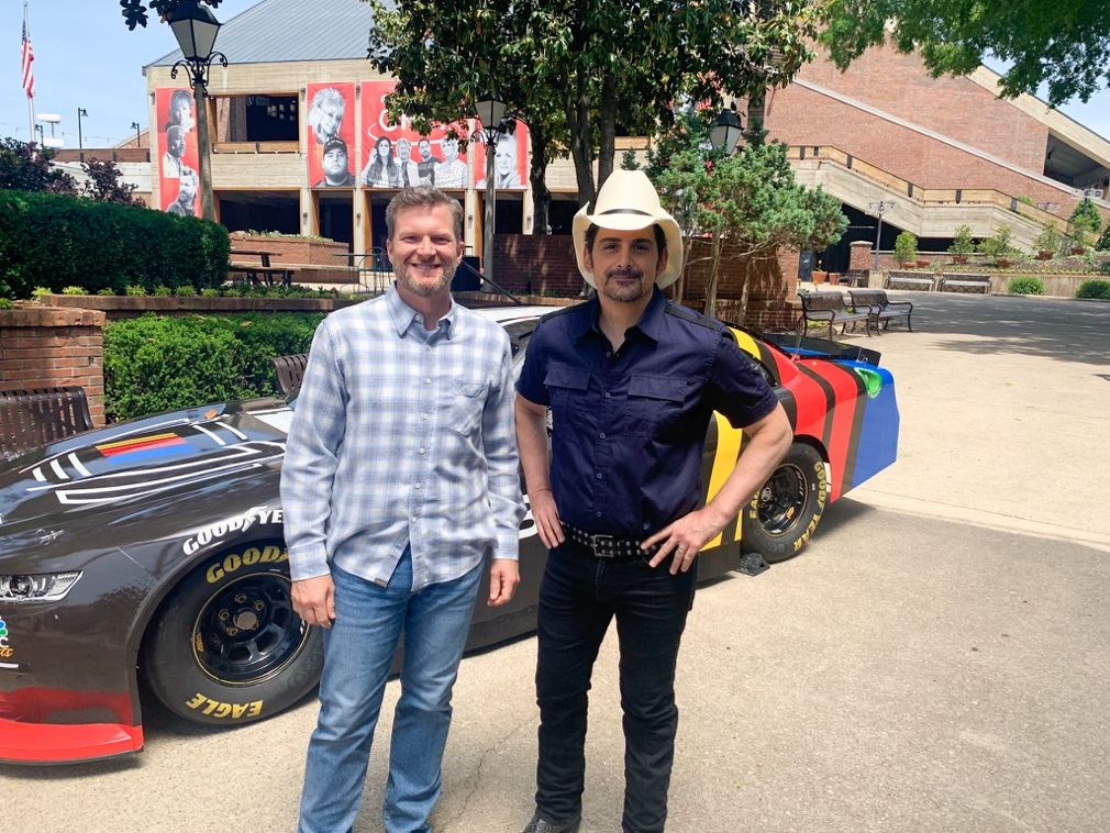 Brad Paisley and Dale Earnhardt Jr. Welcome NASCAR and NBC Sports Back to Nashville