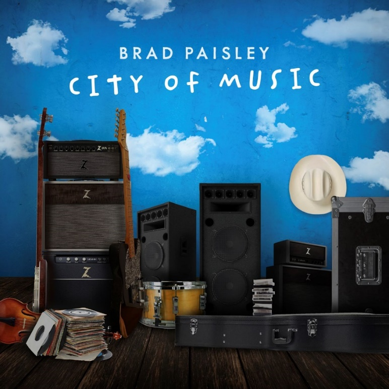 """BRAD PAISLEY KICKS OFF THE SUMMER OF 2021 WITH THE RELEASE OF """"CITY OF MUSIC"""""""