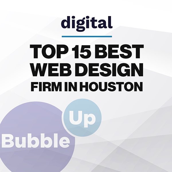 BubbleUp Named Top 15 Best Web Design Firms in Houston by Digital.com