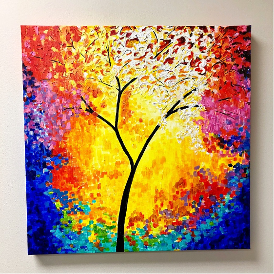 One of my paintings that is currently hanging in our Stafford, TX office.