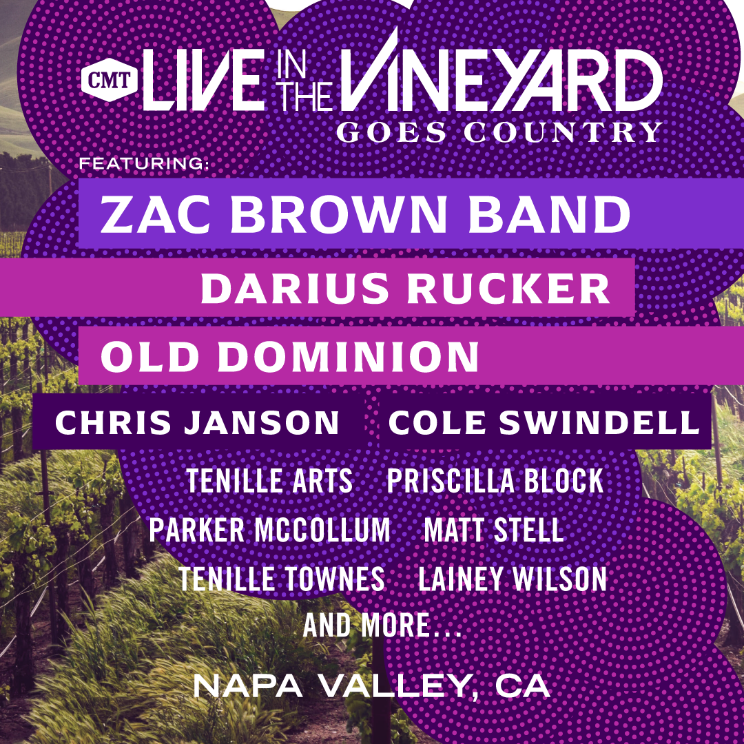 Darius to Perform at Live In The Vineyard Goes Country With CMT