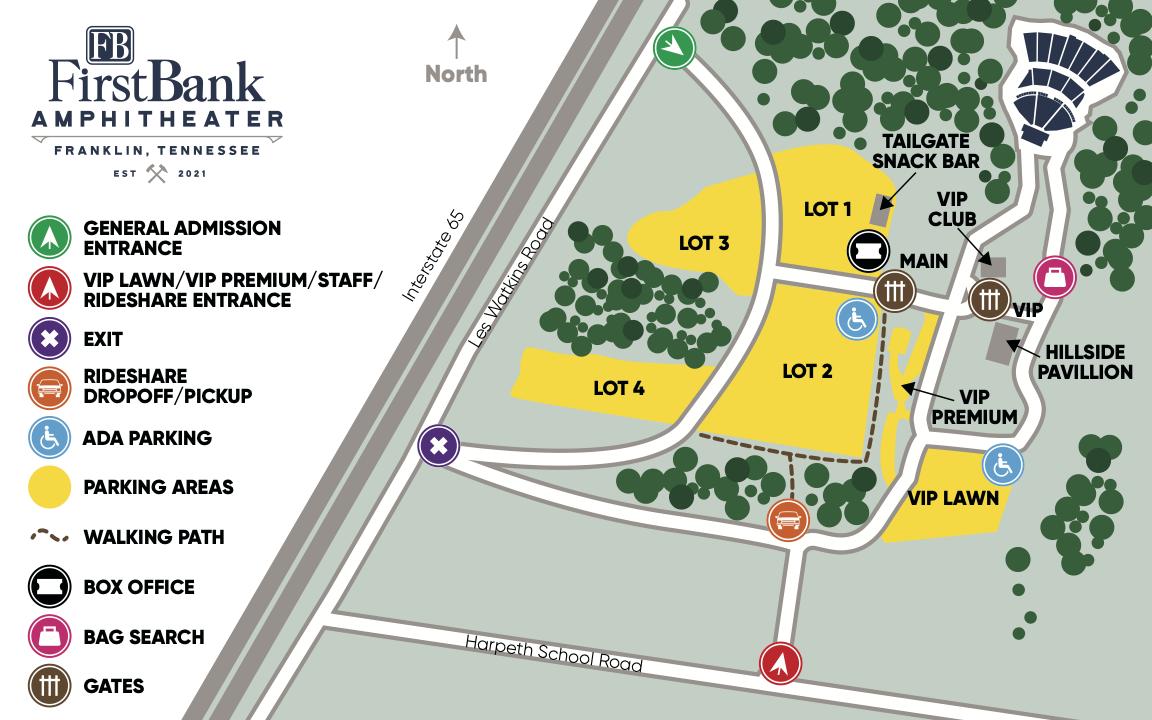 image of amphitheater venue map