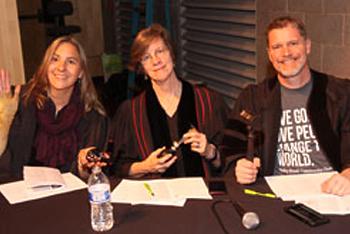 Rev. Sandra Fischer, Rev. Ginny McDaniel, Pastor Clark Pfaff