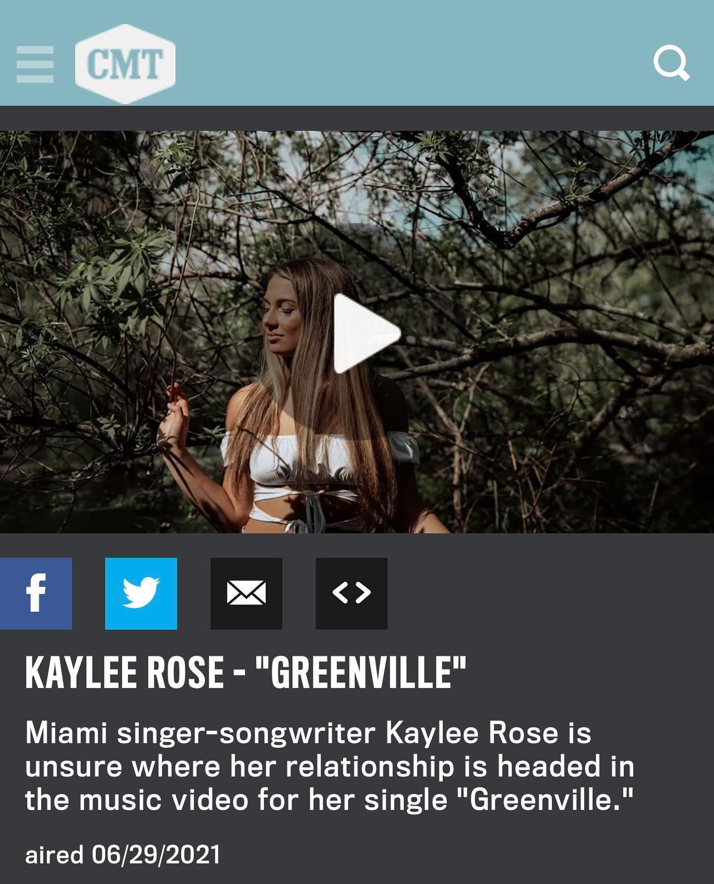 Greenville music video premiere on CMT.com