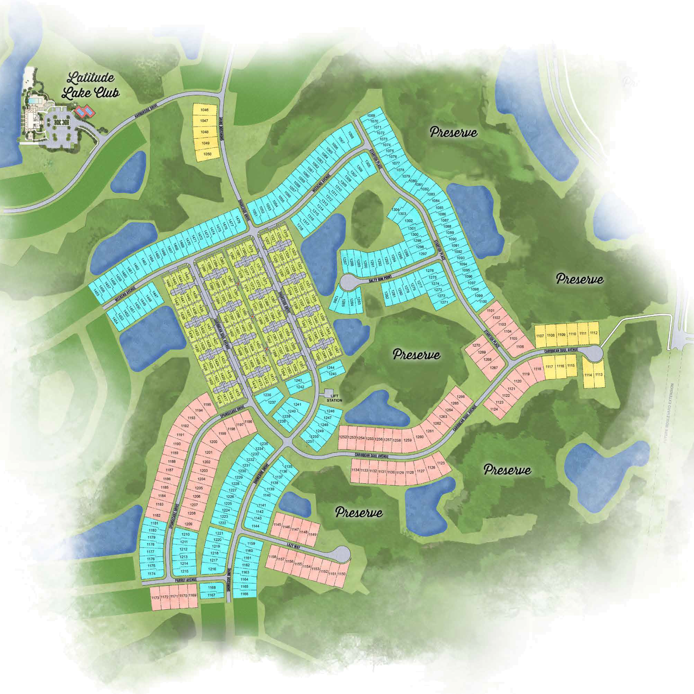 Latitude Margaritaville Hilton Head Plan with areas of community Phase 5 site plan and interest