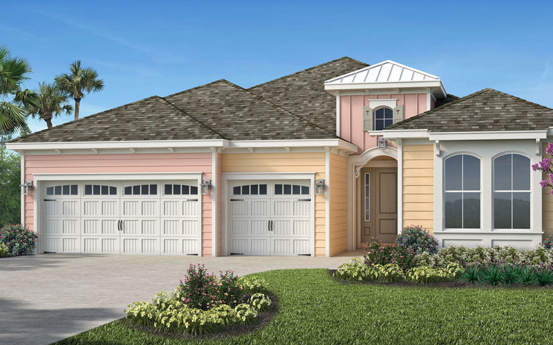 One of our model homes in tne new Latitude Margaritaville Watersound community