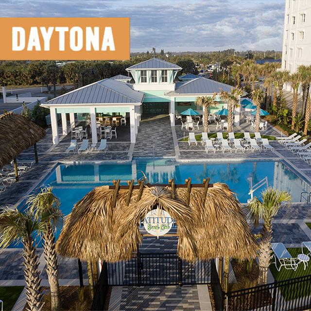 Latitude Margaritaville logo a Daytona Beach Beach Club