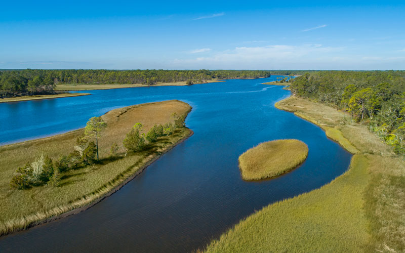Aerial picture of Watersound Florica intercoastal waterway
