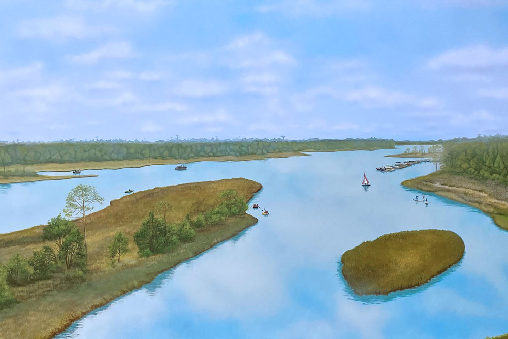 Rendering of the Intercoastal Waterway