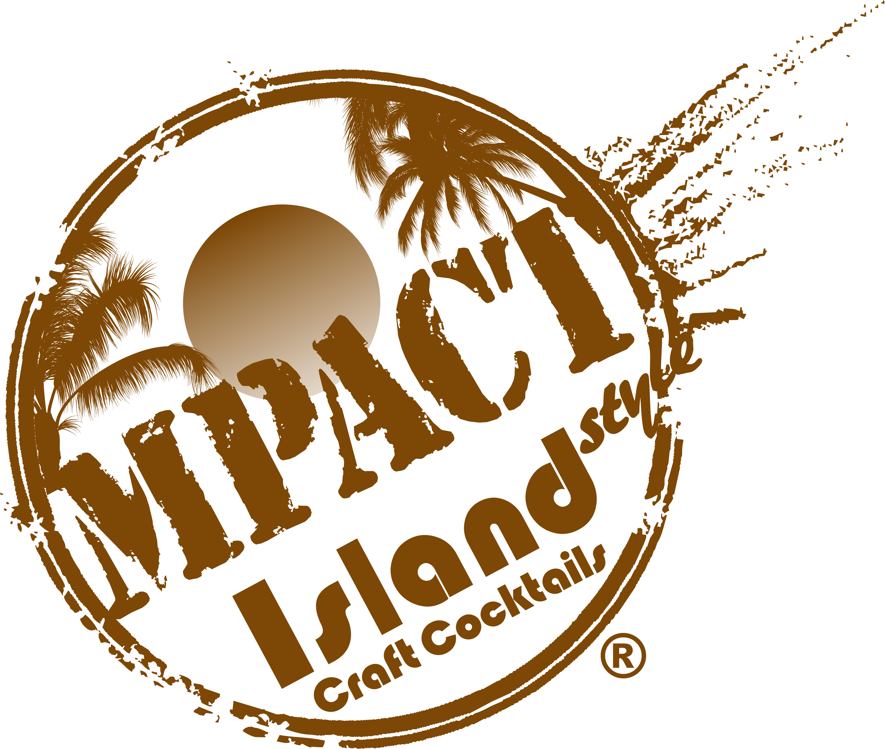 Image of MPACT Beverage Company logo in tropical brown colors