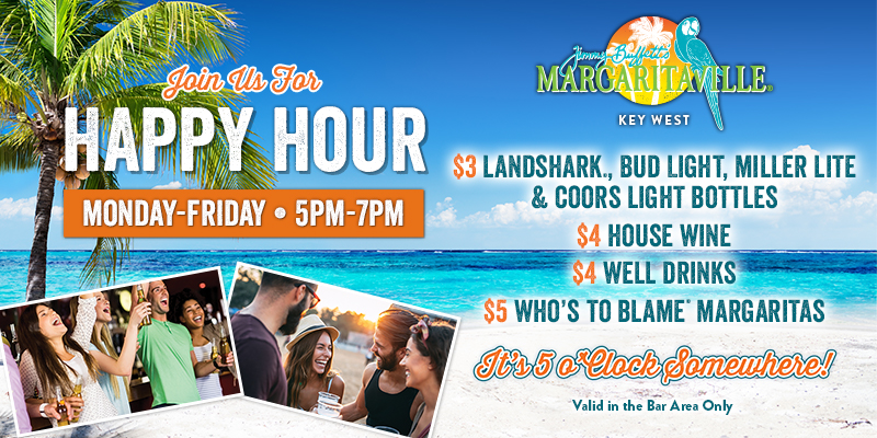Happy Hour Menu valid Monday to Friday from 5pm to 7pm