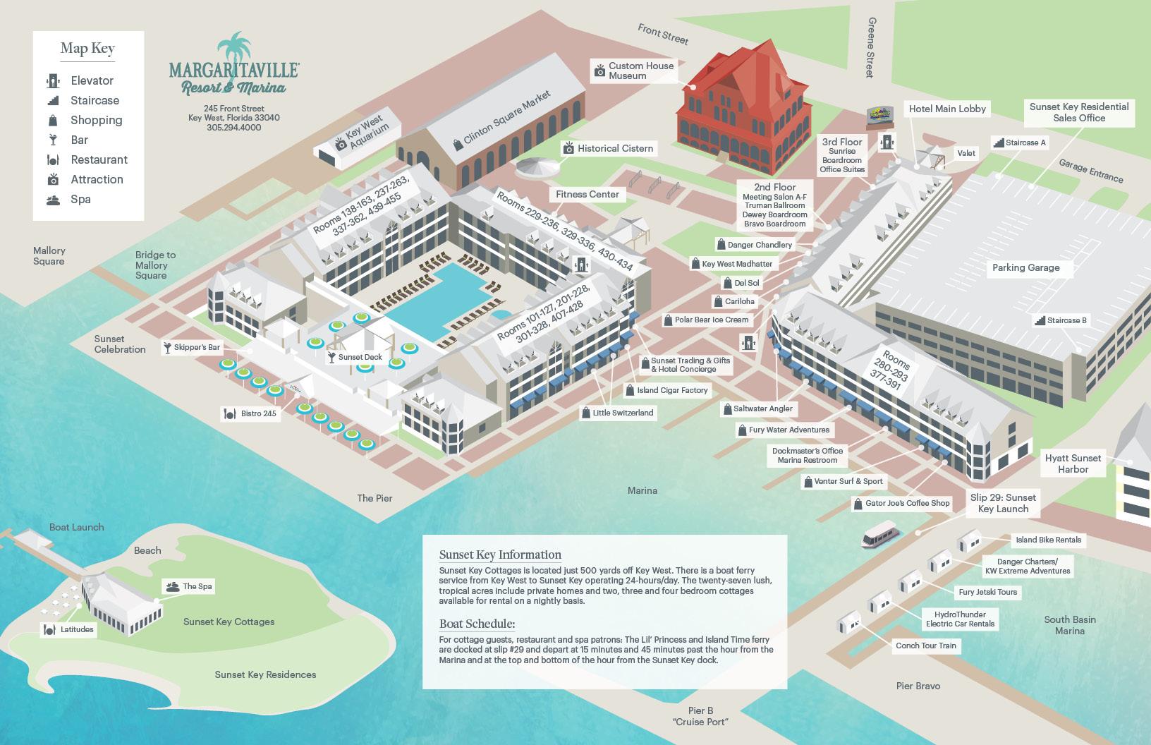 Key west resort map