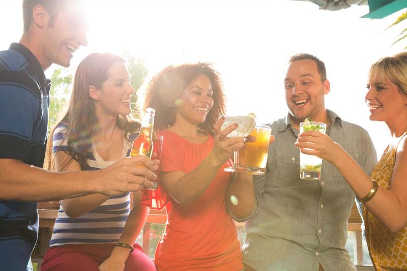 Group of people enjoying drinks