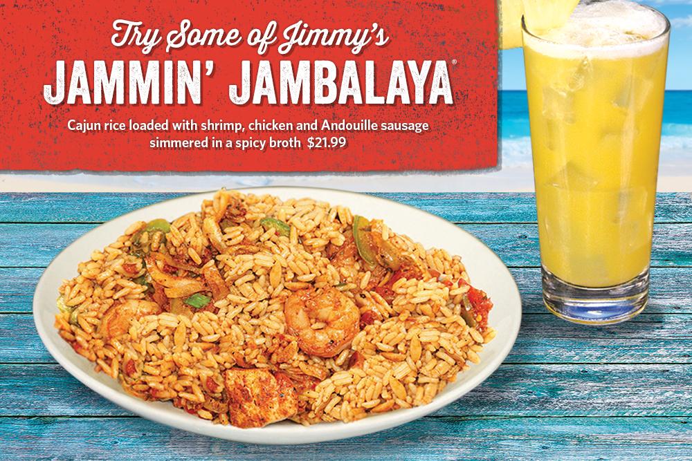 Try Some of Jimmy's Jammin' Jambalaya