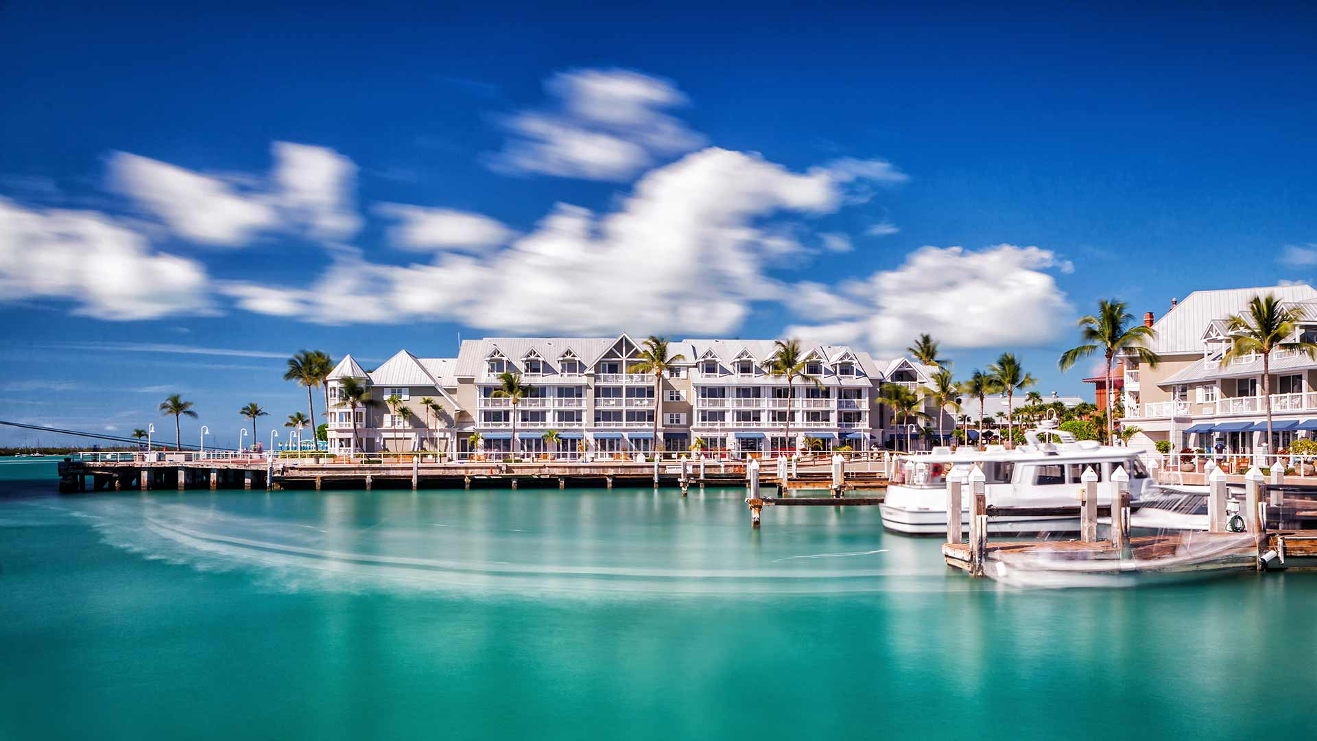 Beautiful picture of the resort as seen from the water or boart