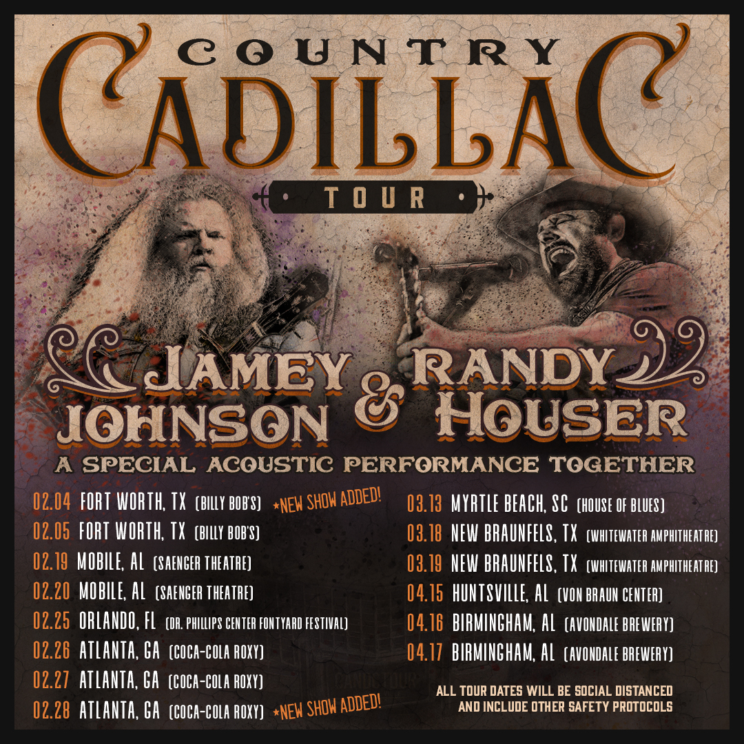 Randy and Jamey Johnson Launch Country Cadillac Tour with Special Acoustic Performance Together