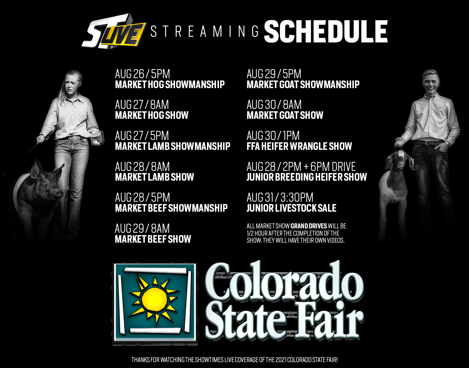 ST Live Streaming Schedule