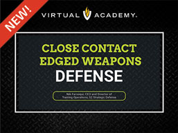 Close Contact Edged Weapons Defense