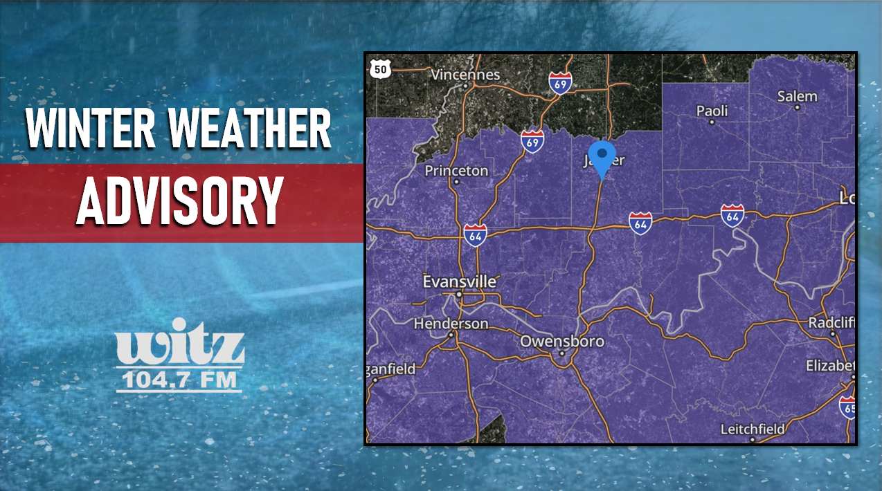 UPDATE:  Dubois County Under a WINTER WEATHER ADVISORY; 1-3 Inches of Snow Possible