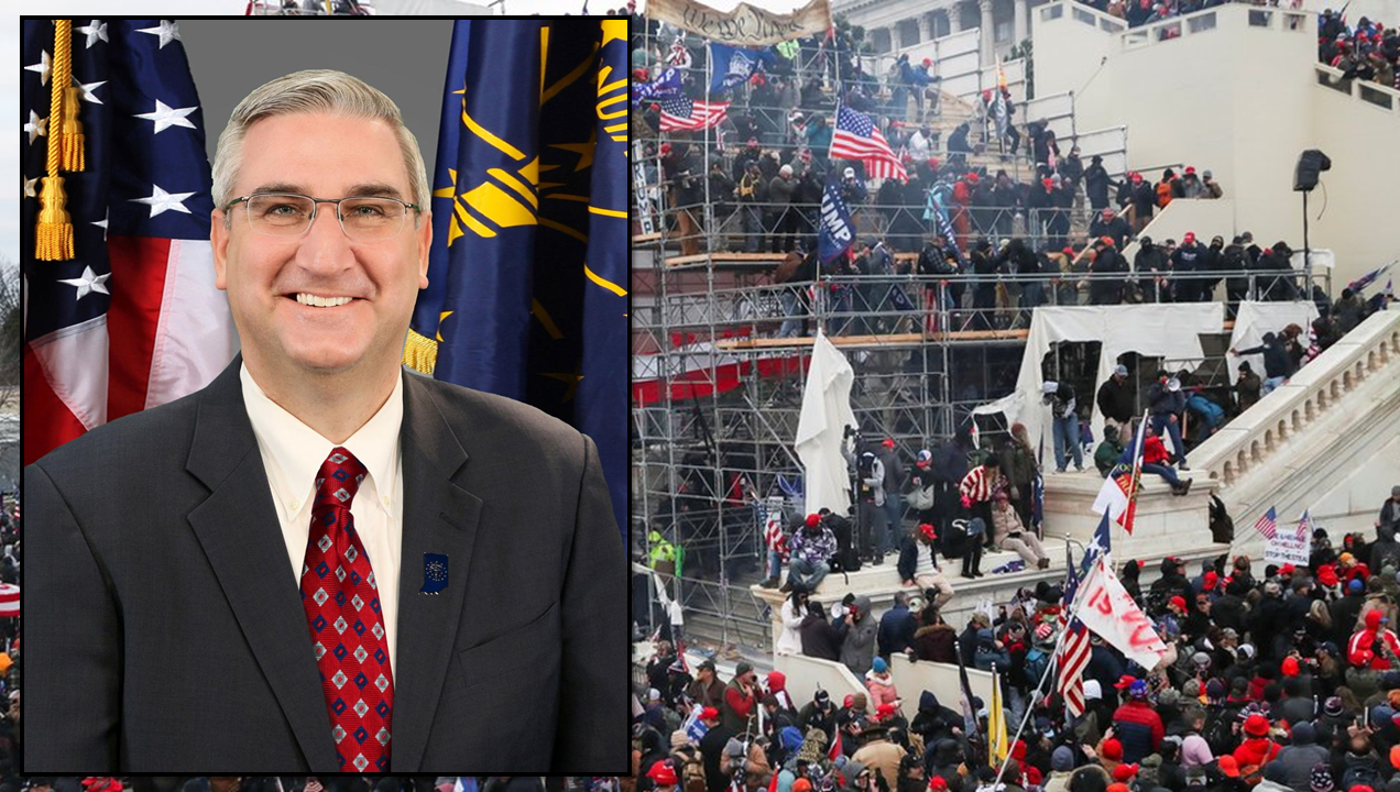 Gov. Holcomb Issues Statement on Wednesday Riots on Capitol Hill