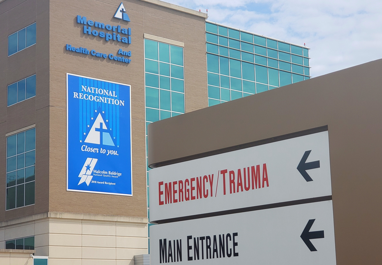 ANSWERING QUESTIONS:  Memorial Hospital Receives