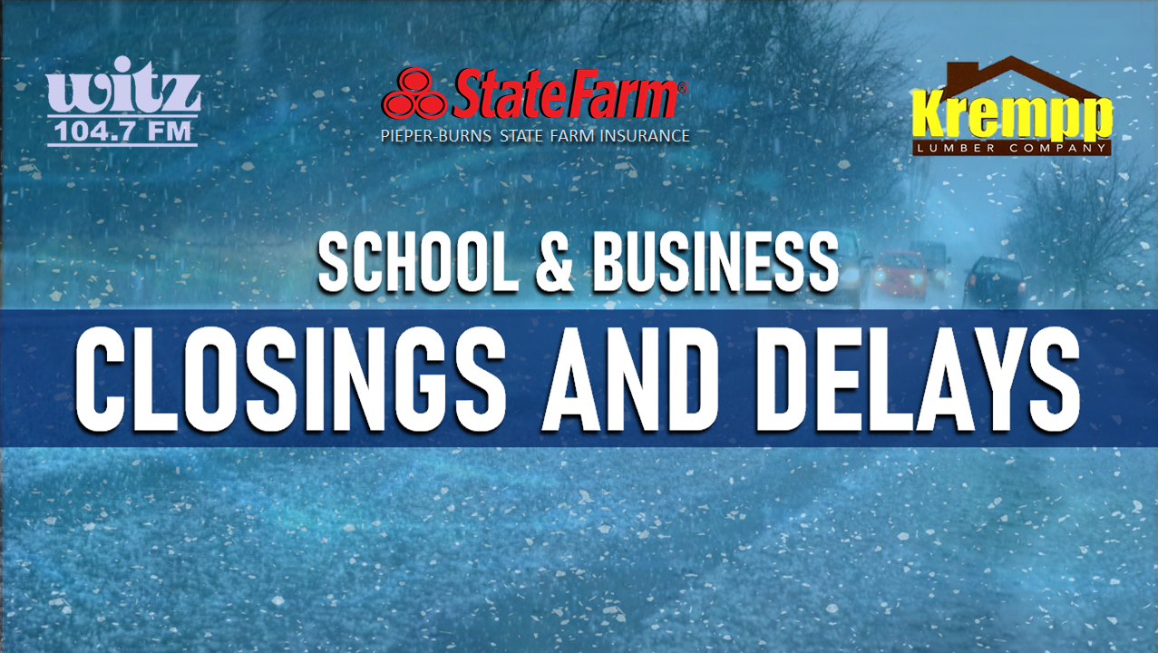 CLOSINGS AND DELAYS: Monday, February 22, 2021
