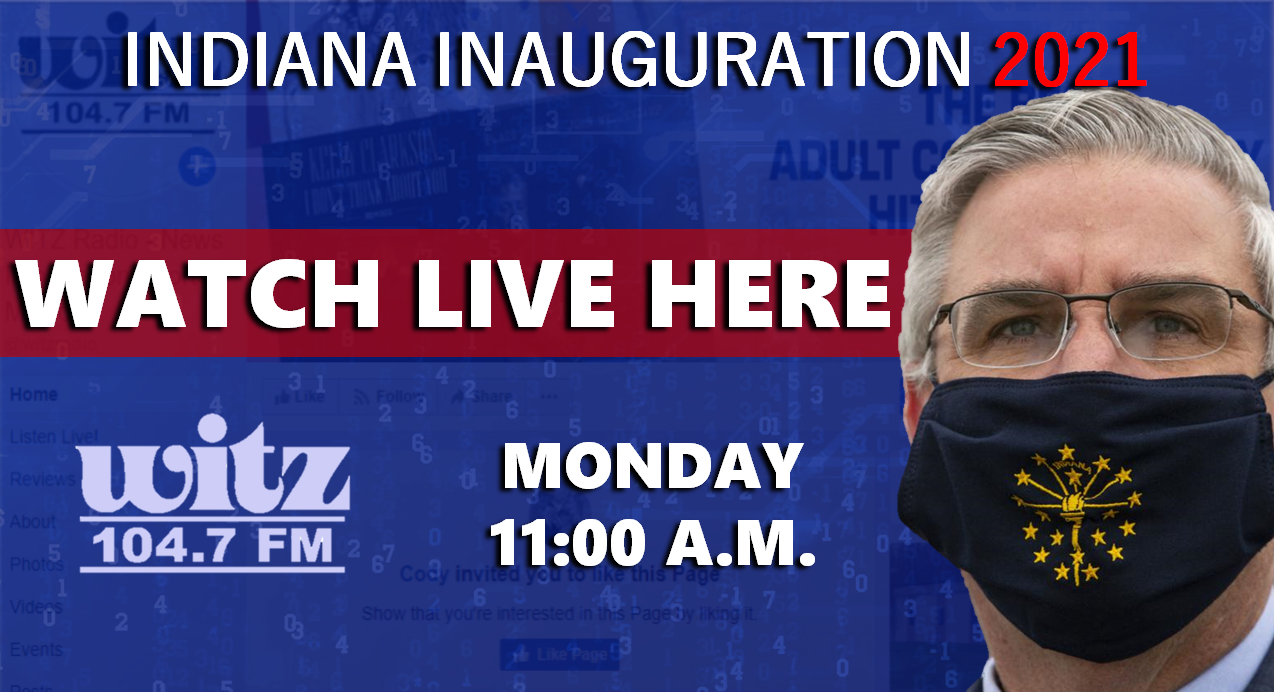 WATCH LIVE: Gov. Holcomb Takes the Oath of Office This Morning at 11 a.m.