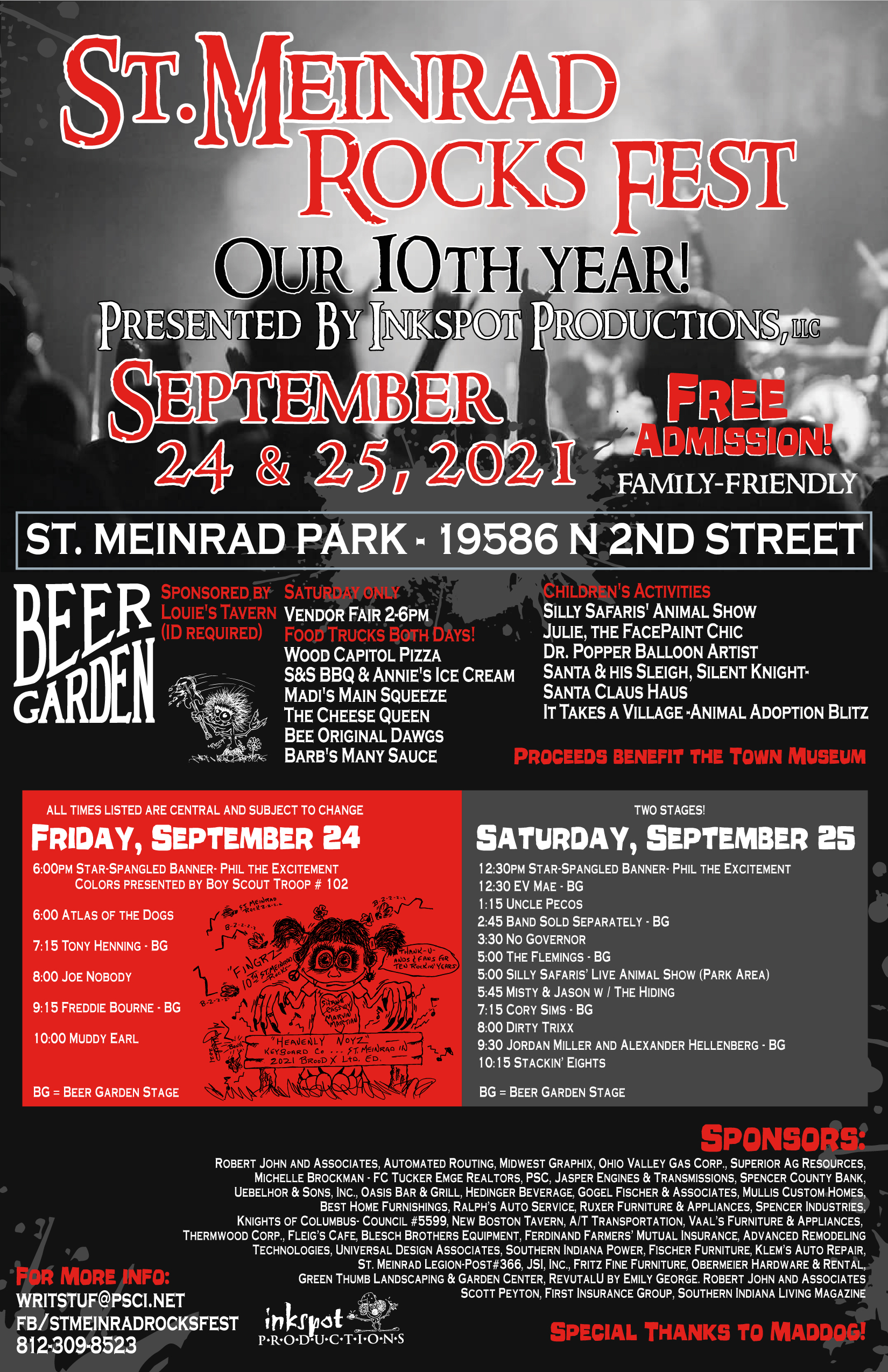 10th Annual St. Meinrad Rocks Fest to Offer Free Admission