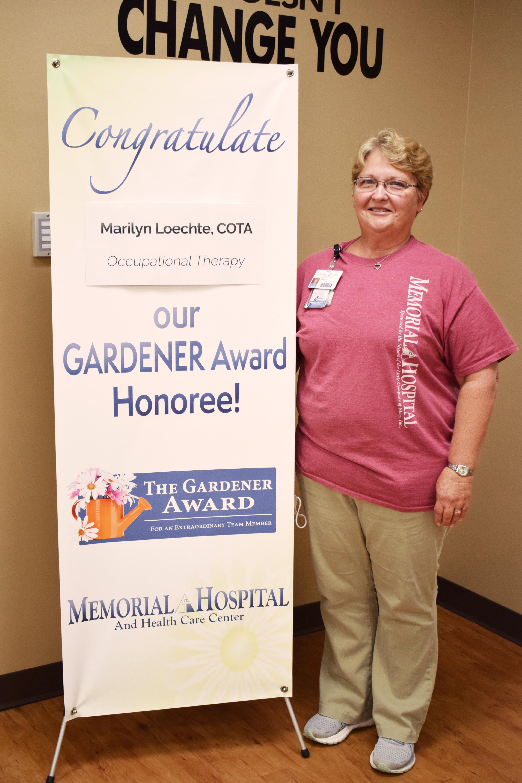 Memorial Hospital and Health Care Center Names Next GARDENER Award Winner