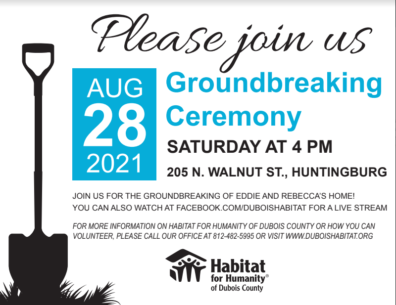 Habitat for Humanity of Dubois County Announces New Habitat Home Groundbreaking Event