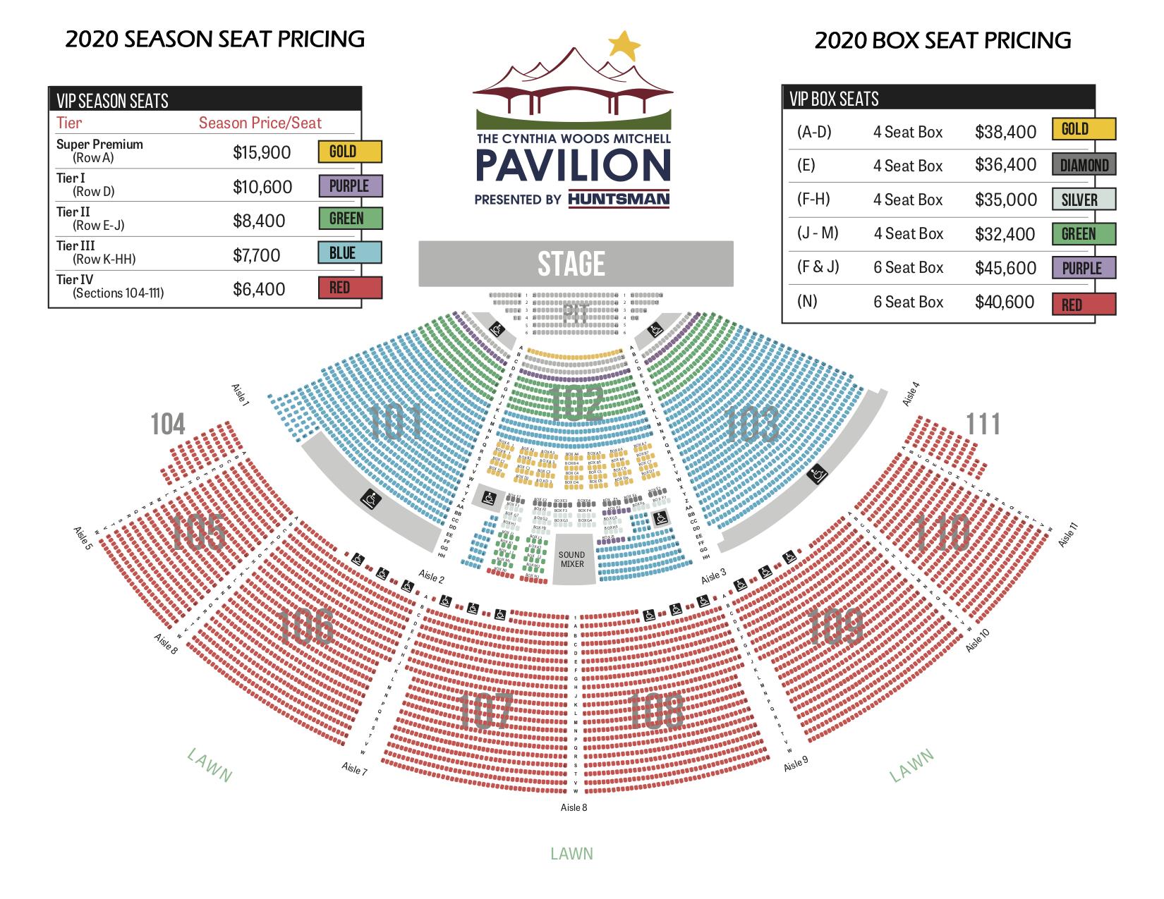 Pavilion Seating Chart