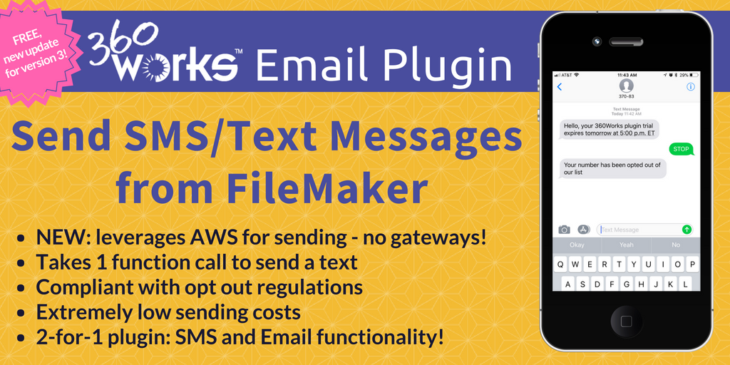 How to Send Text Messages from FileMaker - New Email Plugin Update