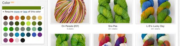 Screenshot: colorized yarn