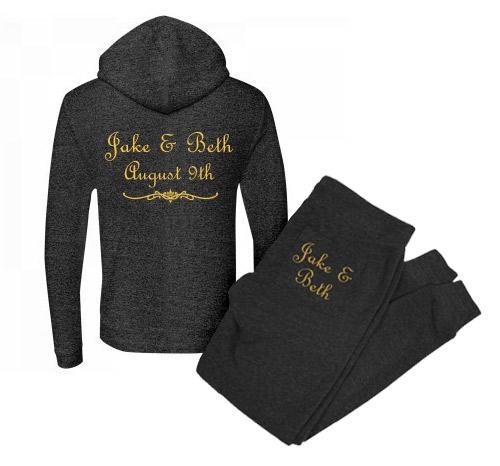 Black & Gold Bridal Hoody