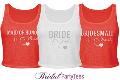 Bridesmaid Dotted Heart