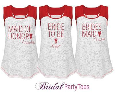 Bridesmaid Red Heart