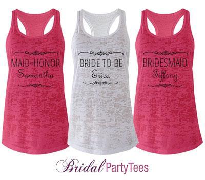 Pink Bridesmaid Scroll