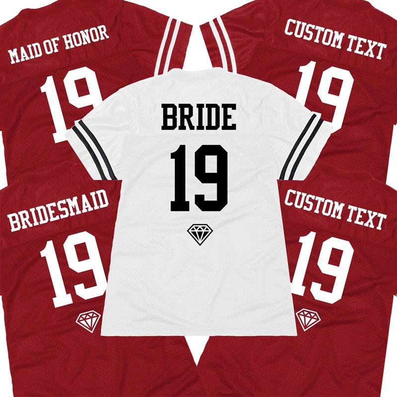 Custom Team Bridesmaid Name Number Jersey