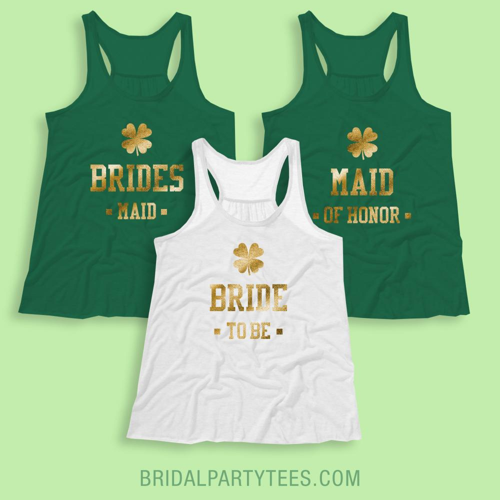 Gold Shamrock Bride To Be