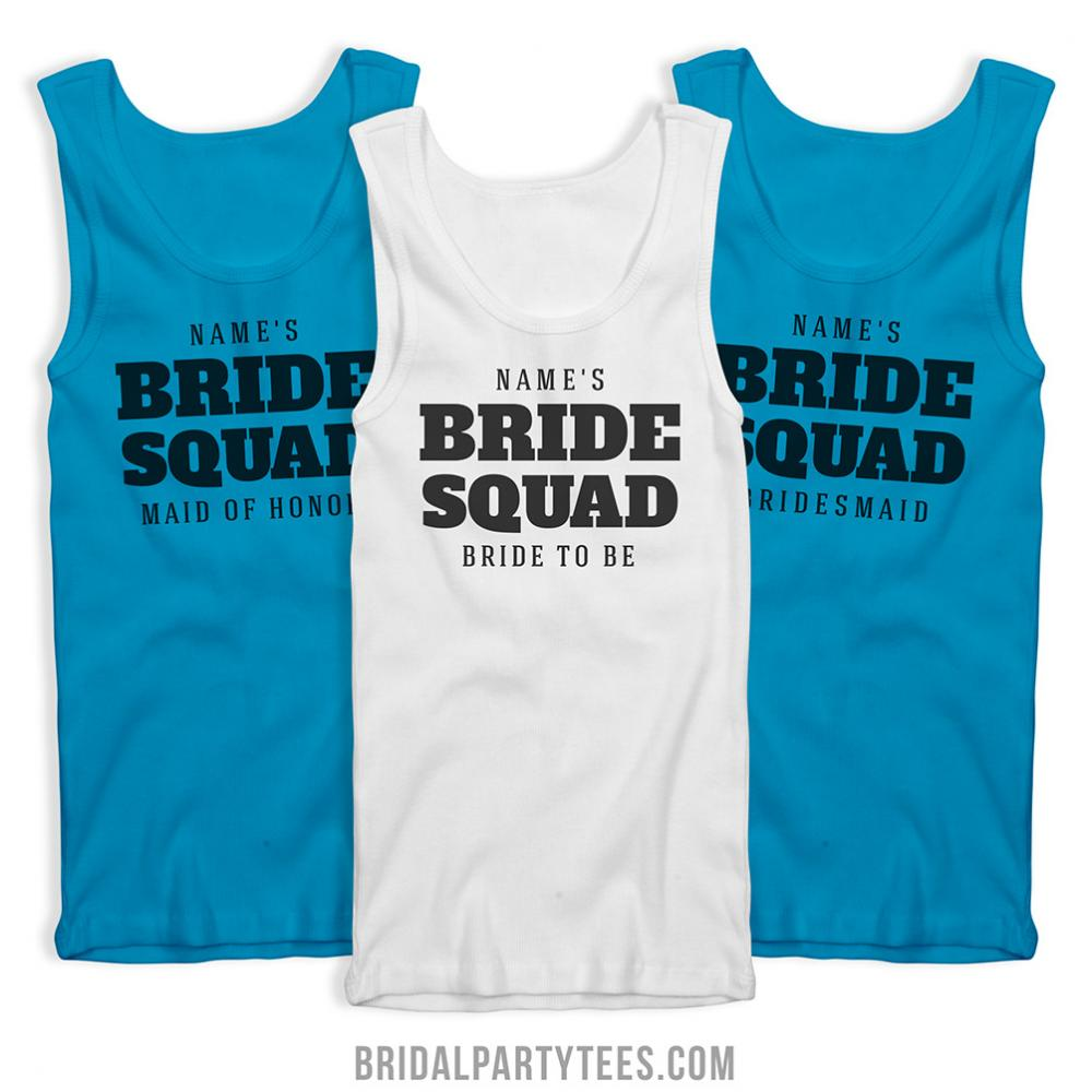 Bride Squad Custom Tanks For Her