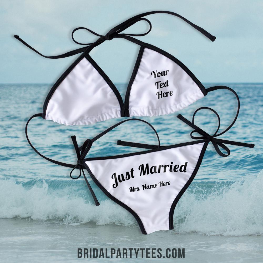 Just Married Beach Bikini