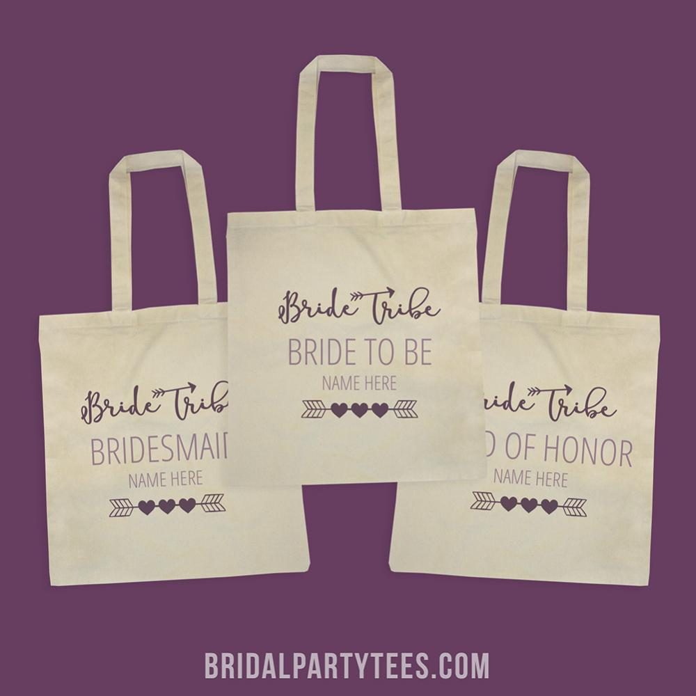 Cute Custom Name Bride To Be Bride Tribe Tote Bag