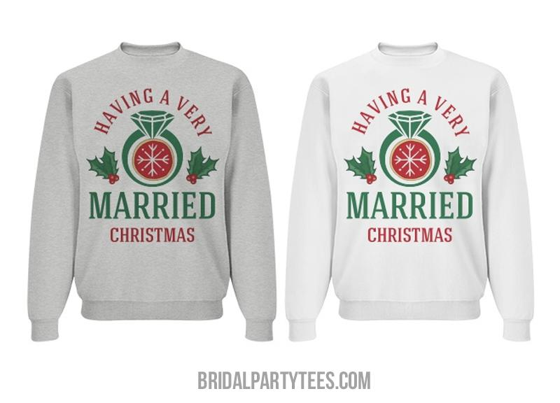Very Married First Christmas Couple
