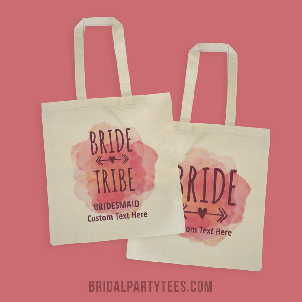 Bride Tribe Bridesmaid Watercolor