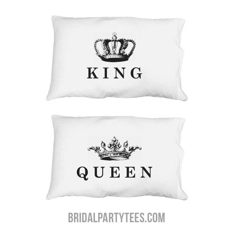 King & Queen Matching Married Gift