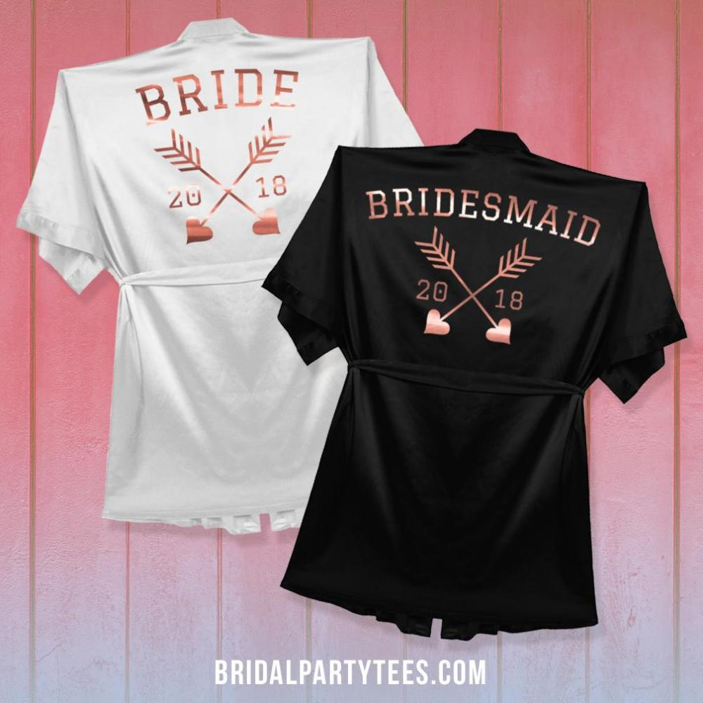 Bride Rose Gold Metallic Robe