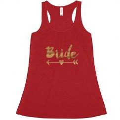 Bride Tank Top Red