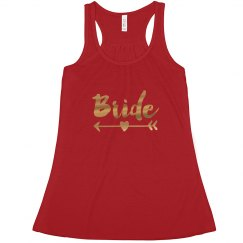 Bride Tank Top Red